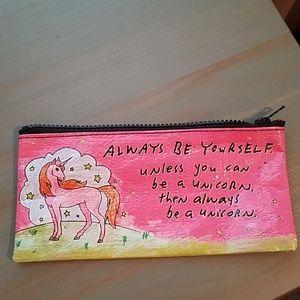 "Blue Q Bag ""Always be yourself..."" Unicorn"